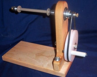 Wooden Bobbin Winder - Self Centering - Single Ended - Manual - Ashford Bobbins and Larger.