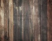 5ft x 5ft PRODUCT  / Vinyl Photography Backdrop / Dark Grungy Wood