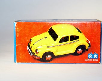 Voiture Friction Toy VW Beetle Yellow w/ box