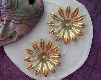 Large Raw Brass Stampings, Brass Flower Stampings, Raw Metal Flowers, Vintage Style Metal Flowers, Made in America ~ USA ~  STA-113