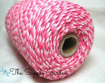Ombre Baker's Twine - Hot Pink/White/Light Pink