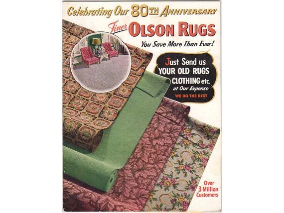 Vintage 1954 Mail Order Catalog Olson Rugs By Vintagebarrel