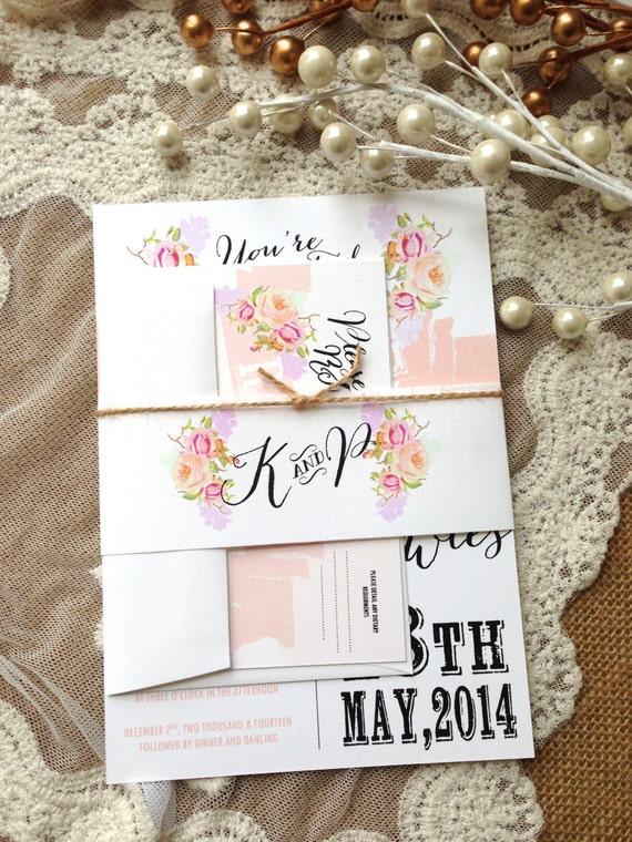 Items Similar To RUSTIC WEDDING INVITATION Suite