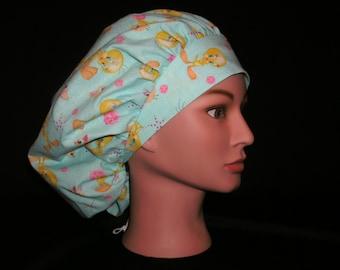 tweety bird bouffant scrub hat