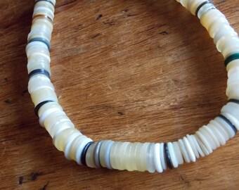 SALE  Vintage Button Stack Necklace