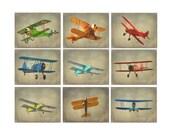 Vintage Airplane Art - Baby Boy Nursery Wall Art , Big Boy Room, Vintage Art, Biplane Art , Plane Print, Playroom Art Home Decor, Photograph