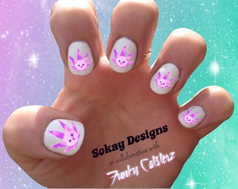 Pot leaf nail art etsy pink legalize kitty nail decals in collaboration with funky catsterz cat prinsesfo Gallery