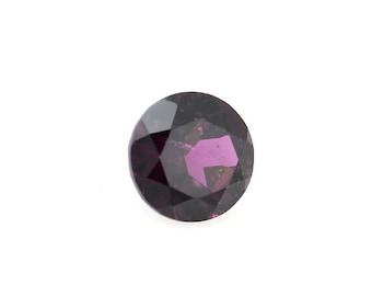 0.37 Ct Natural Pink Rhodolite Garnet Gemstone Faceted Round Size 4 mm