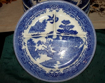 Blue Willow Ideal Grille Plate 10 inch c.1940