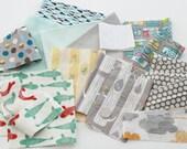 Stash Builder- Calming Prints, Organic Cotton, Ready-to-Ship