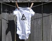 Deathly Hallows baby onesie