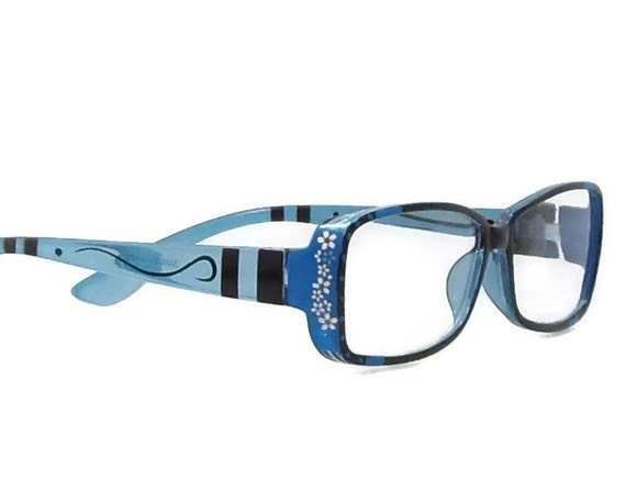 blue reading glasses 175 strength glasses eyeglass by