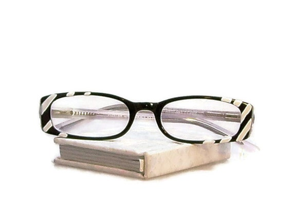 reading glasses 325 strength handpainted in white by