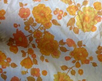 Vintage Floral Patterned Twin Flat Sheet set