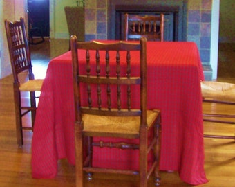 """RED & GREEN TABLECLOTH,  Sofa Cover or Bedspread - Loosely Woven - Measures 62"""" (1 metre, 57.7 cm)  x  103"""" (2 metres, 61.5 cm)"""