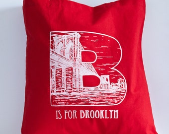 B is for Brooklyn - Tote Bag (Red)