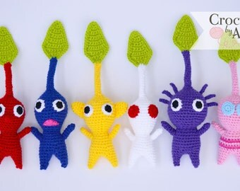 Pikmin Amigurumi, Plush, Crochet by Allie