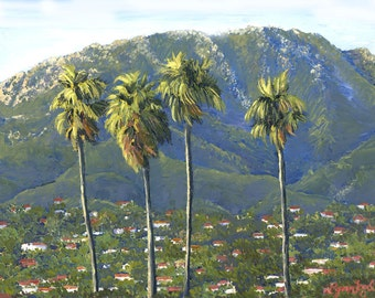Santa Barbara Riviera Painting in Giclee Prints. Gallery Wrap Canvas and more.