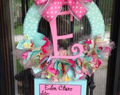 Baby Ribbon Wreath, Nursery, Hospital Door, Kumari Garden w