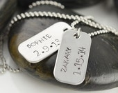 Personalized Mens Necklace, Mens jewelry, Hand stamped Pendant Necklace,Gift for Him, Holiday gift