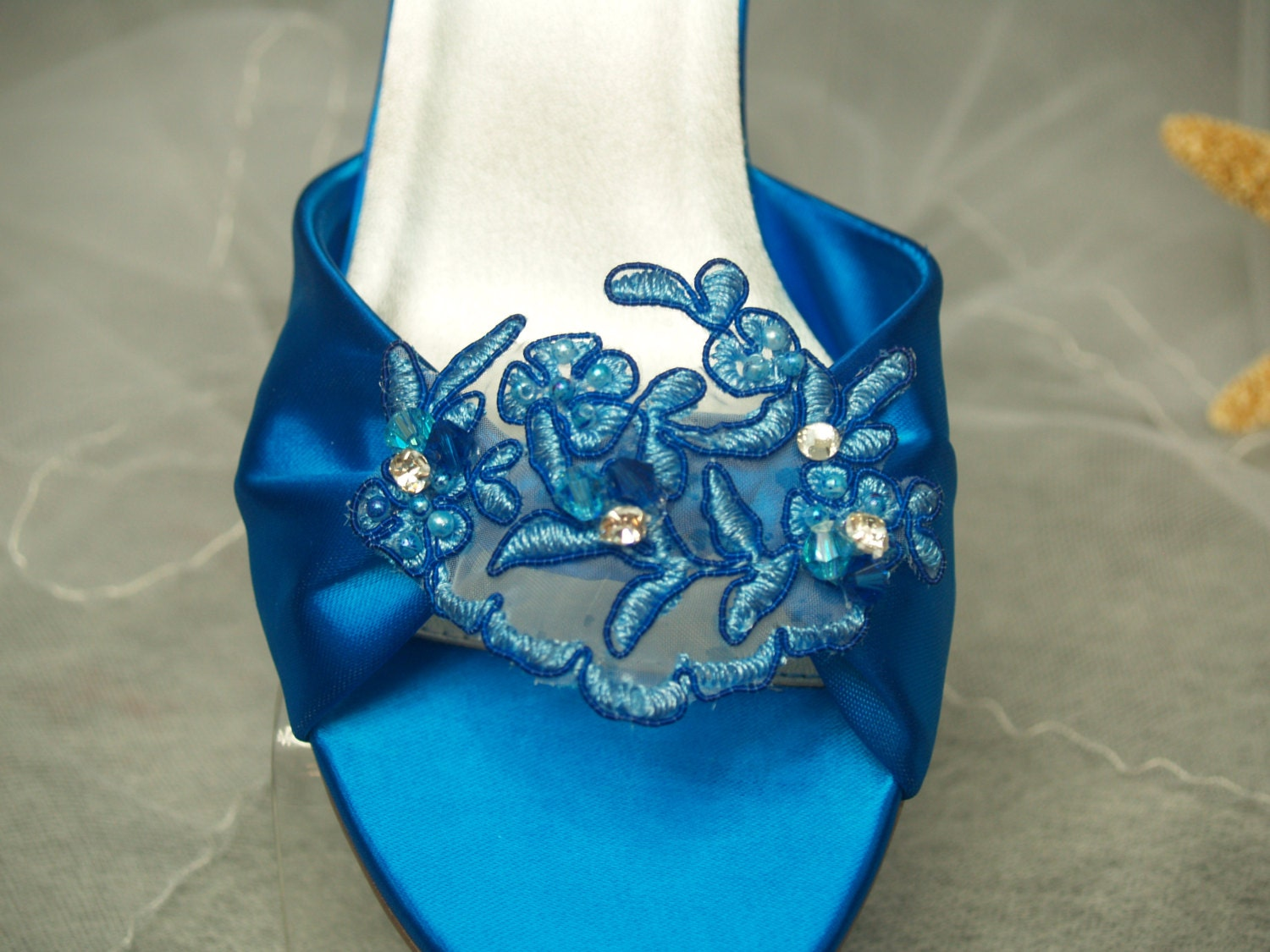 Turquoise Wedding Heels: Wedding Shoes Turquoise Deep Blue Or Other Colors Mid Heel