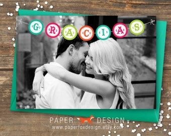 Fiesta Photo Thank You Card - Printable