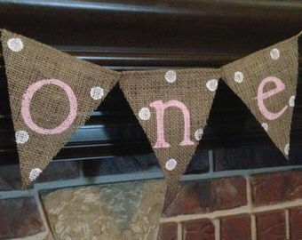 HIGHCHAIR BANNER GIRL, 1st Birthday, First Birthday Girl Decoration, First Birthday Photo Banner, Burlap Birthday, Pink Birthday Banner