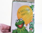 New Old Stock Kermit Birthday Invitatations Muppet Paper Ephemera Hallmark