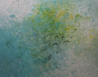 Abstract Painting, Original Art, Textured Wall Art, Modern Art, Acrylic Painting, Art Deco, Contemporary Art, Aqua Art, Green Painting
