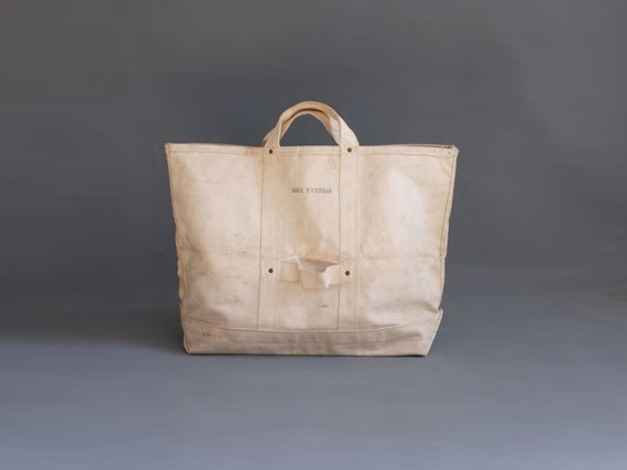 Vintage Bell System Heavy Duty Canvas work bag lineman bag a