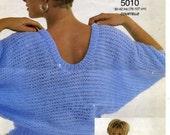 Knitting Pattern Lister 5010 Libra Brushed Chunky Sweater
