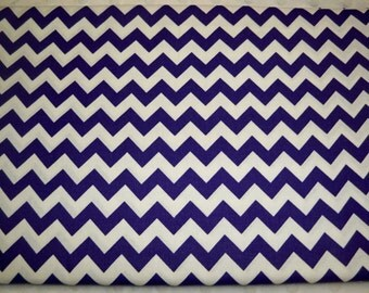Full Yard - Purple Chevron Fabric By The Yard - One Yard Cut Purple 1/2 Inch Chevron Half Inch Chevron Cotton Fabric