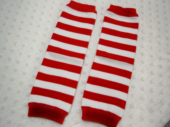 Candy Cane Red And White Striped Leg By Grinsandgigglesbaby1