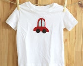 Car Shirt, Customized Organic Toddler Children T-Shirt, Cute Baby Clothes, Baby Boy Birthday Gift, Race Car Felt Applique, Hipster Baby