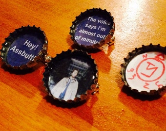 Supernatural inspired Pin mix - castiel enochian angel - Bottlecap 1 inch pin Button set (4)