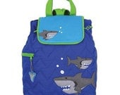 Personalized Stephen Joseph Shark Backpack, Diaper Bag with FREE Embroidery