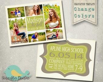 Graduation Announcement PHOTOSHOP TEMPLATE -  Senior Graduation 37