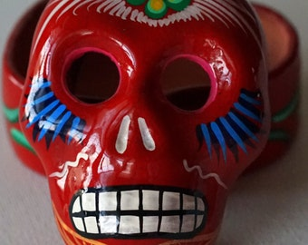 Sugar Skull Clay Jewelry Box