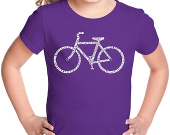 Girl's T-shirt - Created using the word Save a Planet, Ride a Bike