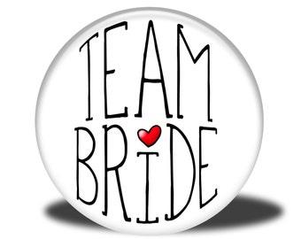"Wedding Party Title - 1"" Button - Team Bride"