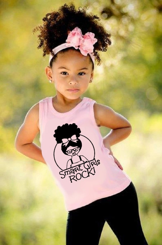 Natural T-shirt-Smart GirlsTank Top (2T-6T) or kids (XS,S,M,L,XL)