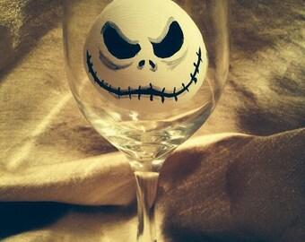 Nightmare Before Christmas Jack Skellington wine glass