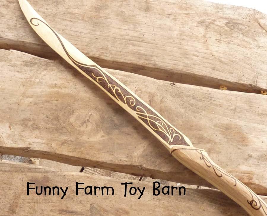 legolas knife dagger boys wooden toy replica by