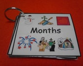 Months of the Year Sight Words / Flash Cards LAMINATED - Ring Option - For Learning Order of Months, Calendars, & Reading - Teaching Tools