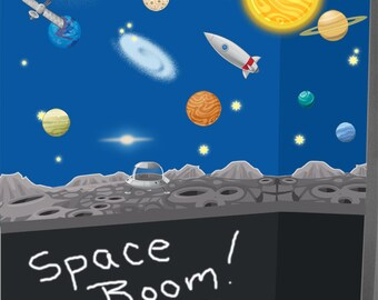 Planets Wall Decals ~Astronomy Space Wall Stickers