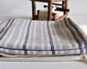 Peshtemal Towel Turkish towel for bath and beach natural linen denim blue grey striped