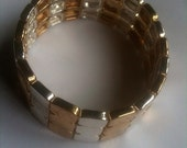 Stretch Metallic Bracelet 1980s Vintage Jewelry