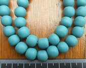 resin beads 1 x strand of 10mm Solid Teal Green resin balls