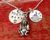 Basset Hound Dog Necklace.  Basset hound Jewelry. Pet memorial