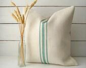 Burlap jute Pillow /Grainsack Pillow /Cape Cod Pillow /Cottage Chic Pillow/ Beach Pillow /Rustic Decor /Farmhouse Pillow / Custom Colors